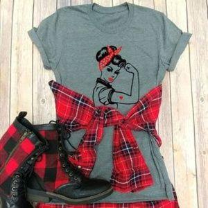 Rosie Riveter Tee Shirt NWT - S M L XL